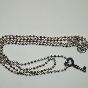 Chico's Love Key Long Layered Necklace